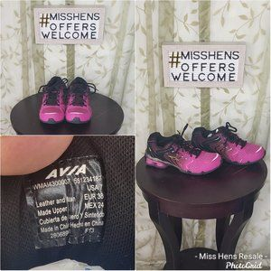 WOMENS AVIA PINK MAGENTA BLACK RUNNING SHOES